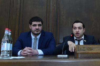 Members of the RA NA delegation at the Euronest Parliamentary Assembly of the Eastern Partnership gave a press conference at the RA NA - Photolure News Agency
