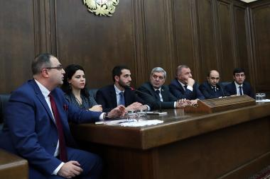 Members of the RA NA delegation to the Parliamentary Assembly of the Council of Europe gave a press conference at the RA NA - Photolure News Agency