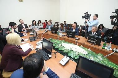 RA NA Standing Committee on Protection of Human Rights and Public Affairs holds a working discussion with the participation of the RA Minister of Justice Artak Zeynalyan at the RA National Assembly - Photolure News Agency