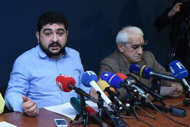 Sos Sargsyan State Theater organized a press conference in order to clarify the recent statements by some acting non-governmental organizations, including acting RA Minister of Culture at the Sos Sargsyan State Theater - Photolure News Agency