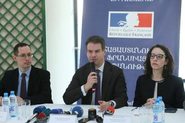 A press conference dedicated to the presentation of the cultural program of the French Embassy within the framework of the Francophone Days took place at the French Embassy in Armenia - Photolure News Agency