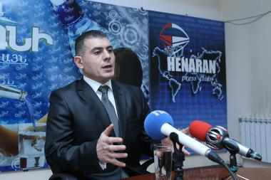Co-founder of 'One Armenia' party Grigor Grigoryan is guest in Henaran press club - Photolure News Agency