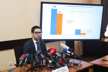 Deputy Chairman of the RA State Revenue Committee Rustam Badasyan gave a press conference at the RA SRC - Photolure News Agency