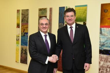 RA Minister of Foreign Affairs Zohrab Mnatsakanyan received the OSCE Chairman-in-Office, Foreign Minister of Slovakia Miroslav Lajcák - Photolure News Agency