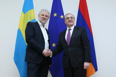 RA Minister of Foreign Affairs Zohrab Mnatsakanyan received Minister for International Development Cooperation of Sweden Peter Eriksson at the RA MFA - Photolure News Agency