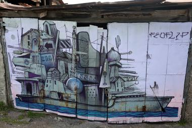 Street art in Kond. One of the oldest districts of Yerevan, Armenia - Photolure News Agency