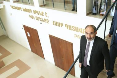 RA Prime Minister Nikol Pashinyan gives an evidence at the Court of First Instance of Shengavit Community of Yerevan, Armenia - Photolure News Agency