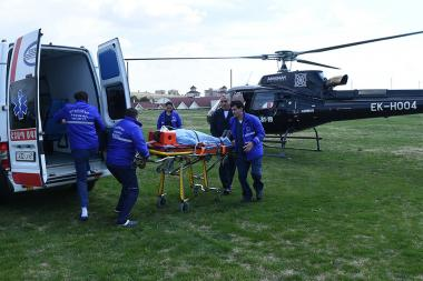 Presentation of a new helicopter of the sanitary aviation took place at 'Ararat' golf club - Photolure News Agency