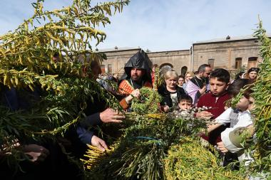Armenian Apostolic Church on the last Sunday of Lent celebrates Palm Sunday the Christian holiday of Palm Sunday (Tsakhkazard) - Photolure News Agency