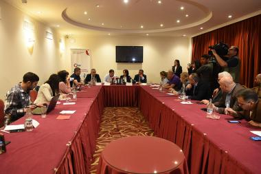 A press conference on the situation around the cement bill took place at Ani Plaza Hotel - Photolure News Agency