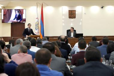 Yerevan city council session took place at the Municipality of Yerevan - Photolure News Agency