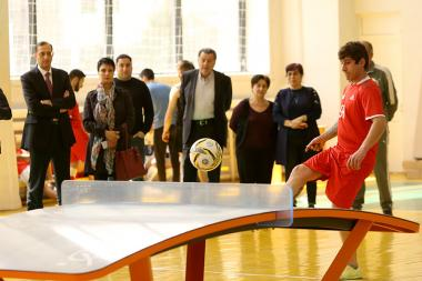 Demonstrative performances of teqball sport took place at the Armenian State University of Economics - Photolure News Agency