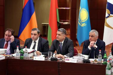 The meeting of the EurAsEC took place at the Armenia Marriott Hotel of Yerevan, Armenia - Photolure News Agency