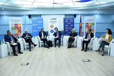 A press conference dedicated to the fifth UN Global Road Safety Week took place at the UN Office in Yerevan, Armenia - Photolure News Agency