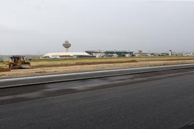 Runway strip construction works at the Zvartnots International Airport of Armenia - Photolure News Agency
