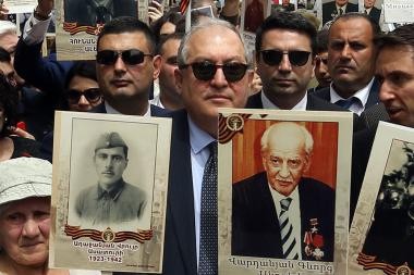 Armenian Veterans and Yerkrapah Volunteer Union organized the 'Immortal Regiment' march in Yerevan, Armenia - Photolure News Agency