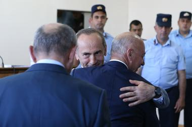 Hearings of the RA second President's Robert Kocharyan case took place at the Court of General Jurisdiction of Avan and Nor Nork Administrative Districts of Yerevan, Armenia - Photolure News Agency
