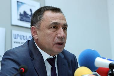 Deputy Director of the Evaluation and Testing Center of the RA Prime Minister Karo Nasibyan gave a press conference in 'Armenpress' state news agency - Photolure News Agency
