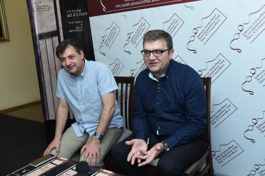 Artistic director of the Russian Drama Theatre Named after K. Stanislavsky Karen Nersisyan and Yuri Igitkhanyan gave a press conference - Photolure News Agency