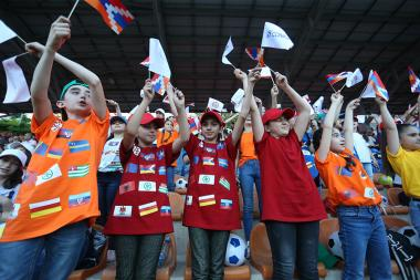 Official opening ceremony of the CONIFA Sportsbet.io European Football Cup 2019 took place at the Stepan Shahumyan Republican Stadium of Stepanakert, Artsakh Republic - Photolure News Agency