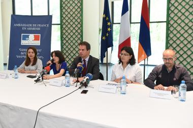 French Embassy in Armenia and Armenian Football Federation organized a press conference to present the 8th Women's Football Championship in Armenia - Photolure News Agency