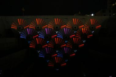 'ORBIS' video mapping installation implemented with the support of the Embassy of Italy in Armenia was presented at the Cafesjian Center for the Arts in Yerevan, Armenia - Photolure News Agency
