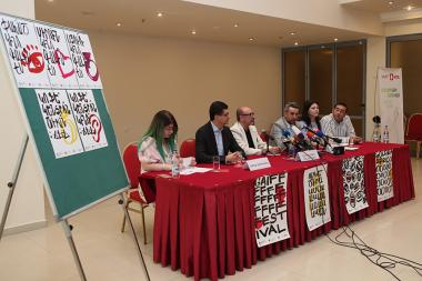 A press conference ahead of the 'Golden Apricot' International Film Festival took place at Ani Plaza Hotel - Photolure News Agency