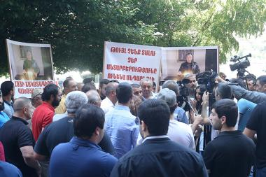 A protest action took place in front of the RA Government's building - Photolure News Agency