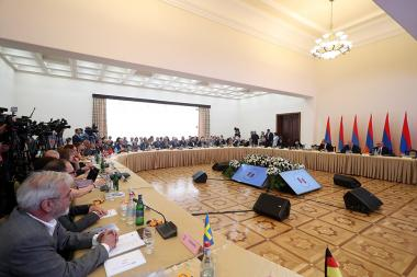 """The annual meeting of the Board of Trustees of """"Hayastan"""" All-Armenian Fund took place at the RA Government's Reception House - Photolure News Agency"""