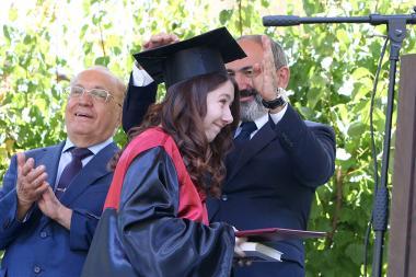 Graduation ceremony of the Lomonosov Yerevan State University Yerevan branch took place - Photolure News Agency