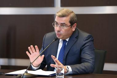 Chairman of the RA State Revenue Committee Davit Ananyan gave a press conference at the SRC administrative building - Photolure News Agency