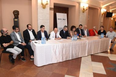 Members of 'My Step' Charity Foundation and classical music collectives signed a memorandum of understanding at the Aram Khachaturian Concert Hall - Photolure News Agency