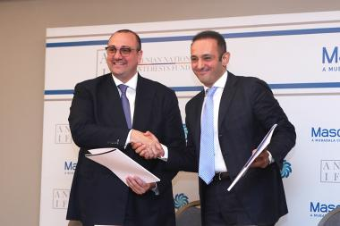 A memorandum of understanding was signed between the Armenia Fund for State Interests and ՛Masdar՛ Arabic company at Alexander Hotel - Photolure News Agency