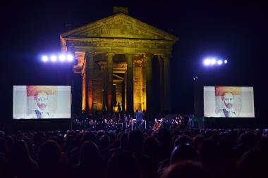 A large-scale evening dedicated to the 150th anniversary of Komitas and Hovhannes Tumanyan took place at Garni Historical and Cultural Reserve-Museum - Photolure News Agency