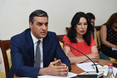 NA Standing Committee on Protection of Human Rights and Public Affairs holds a working discussion at the RA National Assembly - Photolure News Agency