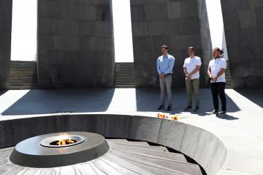 Former Portuguese professional football player Nuno Gomes paid a visit to the Armenian Genocide memorial complex - Photolure News Agency