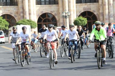 Traditional cycling tour 'Tour de Masis 3' kicked off in Yerevan, Armenia - Photolure News Agency