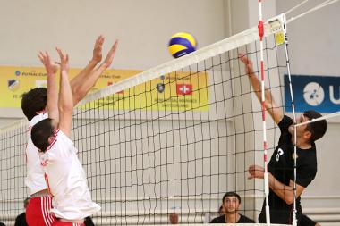 A Volleyball match between the teams of Yeghegnadzor and Metsamor took place during the 7th Pan-Armenian Summer Games - Photolure News Agency