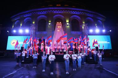 The official closing ceremony of the 7th Pan-Armenian Summer Games took place on Freedom Square of Yerevan, Armenia - Photolure News Agency