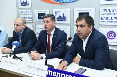 A press conference ahead of 'Eco Fish Fest' festival in Sevan Lake took place at 'Armenpress' state news agency - Photolure News Agency