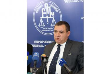 President of the Supreme Judicial Council Ruben Vardazaryan gave a press conference at the administrative building of the RA Supreme Judicial Council - Photolure News Agency
