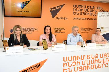 A press conference dedicated to the 6th 'Tourism Armenia 2019' awards ceremony took place at the Sputnik Armenia press center - Photolure News Agency