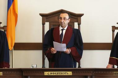 President of the RA Constitutional Court Hrayr Tovmasyan announced the verdict on the case of the RA second President Robert Kocharyan - Photolure News Agency