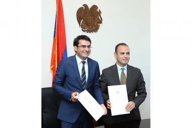 Memorandum of understanding was signed between the RA Ministry of High-Tech Industry and the Office of the High Commissioner for Diaspora - Photolure News Agency
