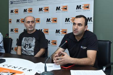 'CiviCERT-AM' team members Samvel Martirosyan and Artur Papyan gave a press conference at the Media Center - Photolure News Agency