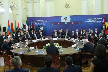 Supreme Eurasian Economic Council meeting took place at the RA Presidential Palace - Photolure News Agency