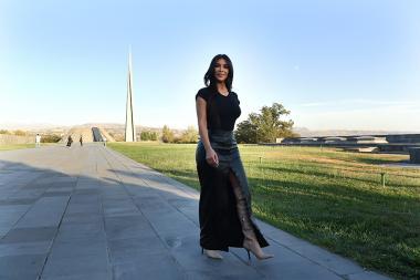 Kim Kardashian during her visit to Yerevan, Armenia - Photolure News Agency