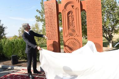 A solemn opening of a khachkar-monument commemorating the 23 Armenian clerics who fought and died under the French flag within the Eastern Legion took place at the Musa Ler hero memorial - Photolure News Agency