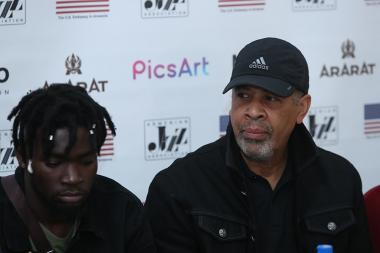 Composer, bass guitarist Stanley Clarke gave a press conference at Grand Hotel Yerevan - Photolure News Agency
