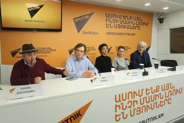 A press conference ahead of the Yerevan Jazz Fest 2019 took place at Sputnik Armenia press center - Photolure News Agency